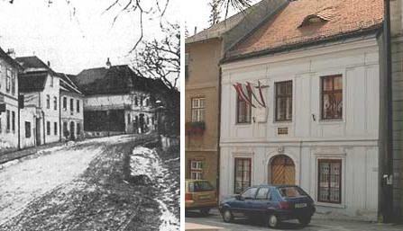 Das Haus Grinzinger Straße 64 im Jahr 1890/im Jahr 2006